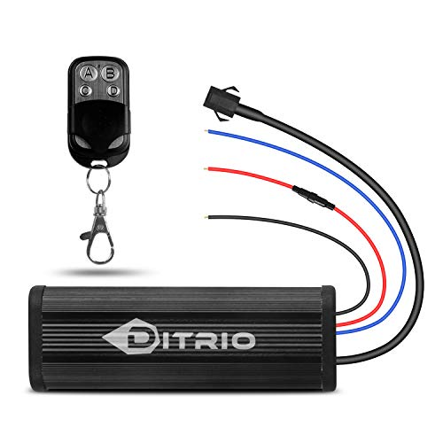 (DITRIO Wireless Remote Controller & key fob chain Remote for 12V DC)