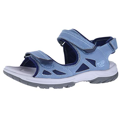 Easy Spirit Omega Women's Sandal 8 B(M) US Navy-Light Blue