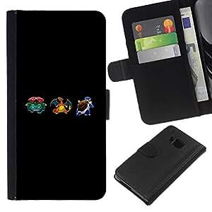 YiPhone /// Tirón de la caja Cartera de cuero con ranuras para tarjetas - Empuje Monster - HTC One M7