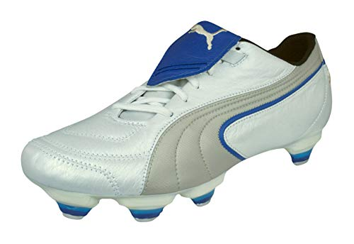 (PUMA King Exec SG Mens Leather Soccer Boots/Cleats-White-8)