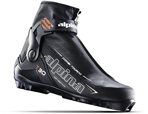 Alpina Sports T30 Touring Cross Country Nordic Ski Boots, Black/White/Red, Euro 44 Alpina Cross Country Boot