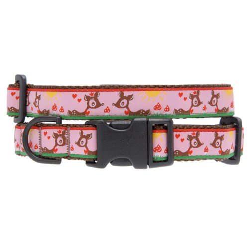 Max & Zoey Bambie Dog Collar, Small, Pink