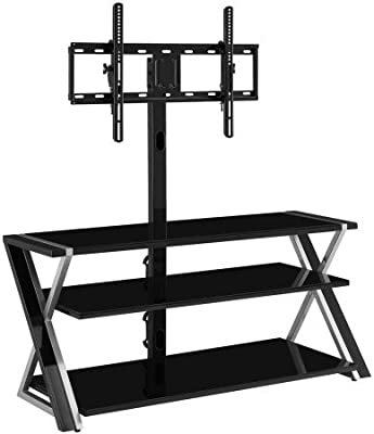 Amazon Com Whalen Furniture Xlec54 Nv 3 In 1 Flat Panel Tv Stand