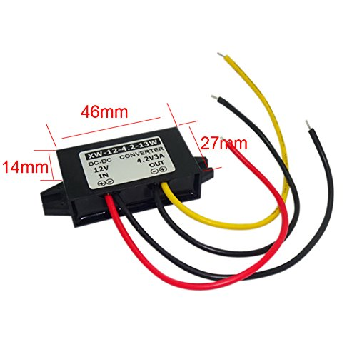 AMZVASO - DC DC Buck Adapter 12V(6-22V) To 4.2V 3A 13W Power Supply Converter Step Down Regulator Module For Air Conditioning