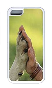 iPhone 5C Case, Personalized Custom Rubber TPU White Case for iphone 5C - High-Five Cover