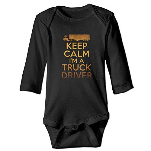(Thoreau Holmes Keep Calm I'm A Truck Driver 100% Organic Cotton Unisex-Baby Infant Long Sleeve Onesies Bodysuits Romper 2T)