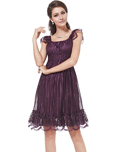 HE02713PP14 Purple 12US Ever Pretty Spring Bridesmaid Dresses Girls 02713