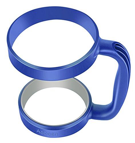 Aoocan Handle for Yeti Rambler 30 Oz Tumblers, Rtic, Sic Cup Ozark Trail and More Tumbler Mug, Dark (Glacier Blue Handle)