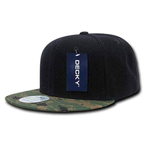 DECKY High Crown Camo Bill Snapback Cap_MCU_One - Monday Cyber Deals Snapback