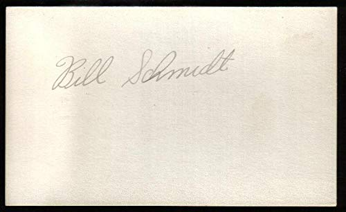 - Bill Schmidt signed 3x5 index card Autographed - JSA Certified - Olympic Cut Signatures
