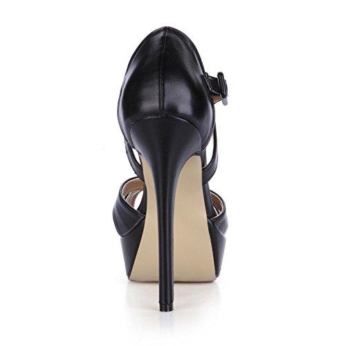 14CM Premium Platforms Rubber toe Summer Pumps Crossing Peep Straps High Sole Women's 3CM 4U Best Sandals PU Heels I0Zxvq6w6