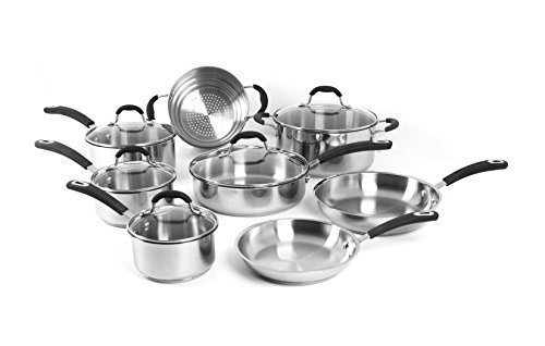 Oneida 13pc Stainless Steel Induction Ready Dishwasher Safe Cookware Set
