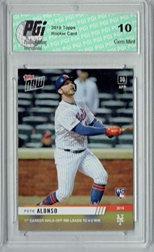 Pete Alonso 2019 Topps Now #157 Rare 616 Made Rookie Card PGI 10