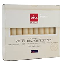 Eika Box of 20 Finest Tree Candles - Solid Colored - Made in Germany - Champagne