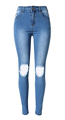 Olrain Womens Ripped Washed Distressed