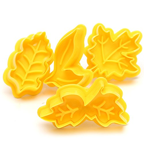 Maple Leaf Plunger Cookie Cutter Biscuit Fondant Cake Mold Baking Tool 4PCS shopping (Clay Cutters Circle With Plungers compare prices)