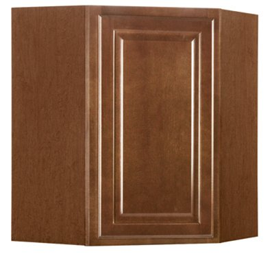 RSI HOME PRODUCTS SALES CBKWD2430-COG Cafe Finish Assembled Diagonal Corner Wall Cabinet, 24