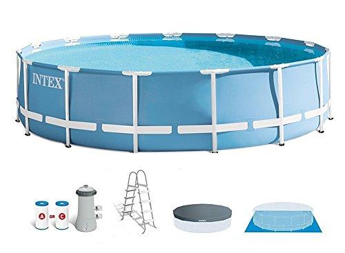 Intex 15 Feet x 48 Inches Prism Frame Pool Set