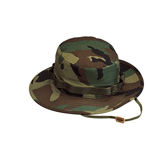 (Rothco Rip Stop Boonie Hat, Woodland Camo, Size 7.75)