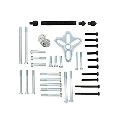 Auto Body Now ABN Harmonic Balancer Puller 46-Piece Tool Kit – Flywheel Remover, Crankshaft Pulley Removal, Steering Wheel Pulling Set: Automotive