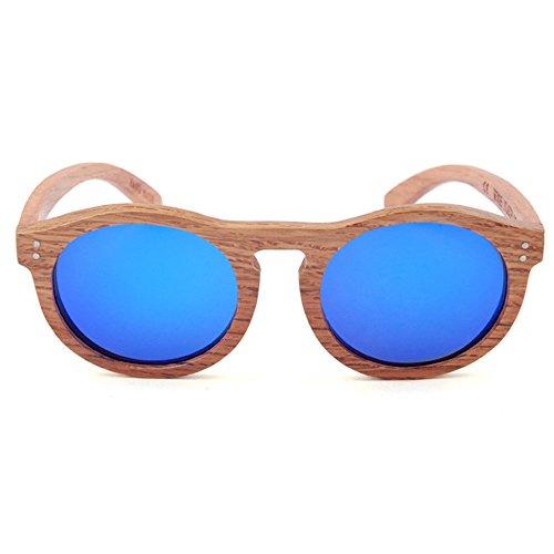 Sol Lente Hechos A Color Gafas Múltiples Protección Uso Redonda Uv Fines Mano Y Para Madera Al Unisex Mujeres Azul Aire Gububi Diario color De Libre Adecuado Hombres Forma Vintage Azul 0zwYw6Zq