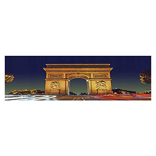 - UHOO2018 Fish Tank Decorations Triomphe Paris France Tourist Entrance Roundabout Evening Sun PVC Paper Cling Decals Sticker 35.4