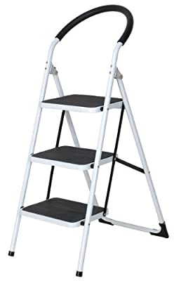 Tool Tech 3-Step Ladder with Rubber Grip by Tool Tech
