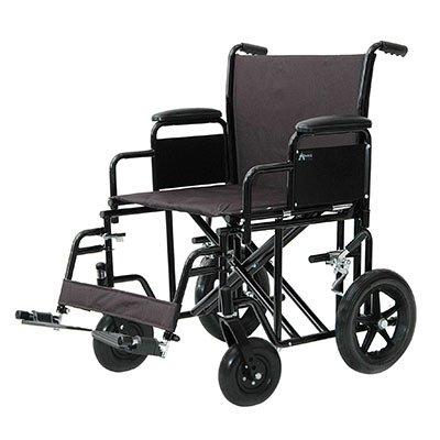 Heavy Duty Transport Chair Black Oversized - Heavy Duty Transport Chair