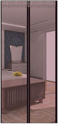QDR Mosquitera Puerta Magnetica Corredera Cortina Mosquitera para Puertas De Sala De Estar La del BalcóN De Patio,Adhesiva FáCil De Instalar Se Cierra,B,80x220cm(31x87inch): Amazon.es: Hogar