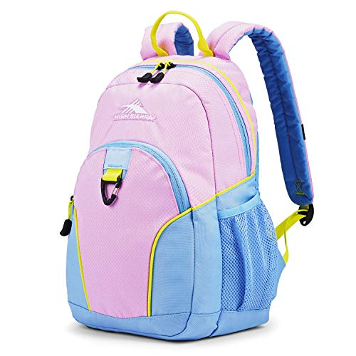 High Sierra Mini Loop Backpack for Preschool Kindergarten Elementary School Bag for Girls Boys, Iced Lilac/Powder Blue/Glow