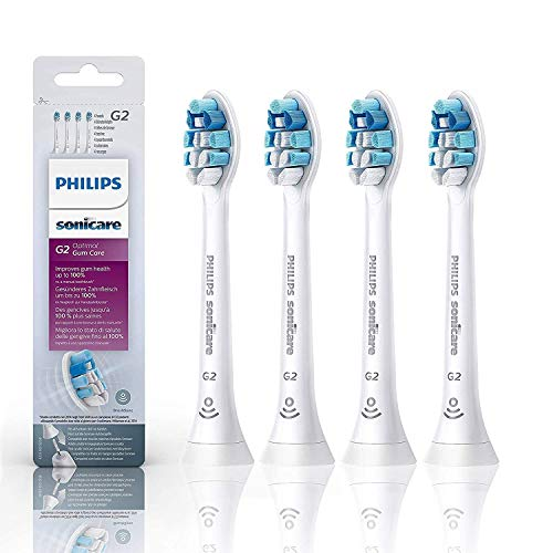 Toothbrush Heads Replacment G2 Compatible with Sonicare Toothbrushes,HX9034/65 Optimal Gum Care Brush Heads for DiamondClean,EasyClean,FlexCare Platinum (4Pack-HX9033/65)