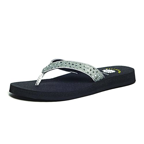 Yellow Box Tatiana Womens Flip Flop Sandals Pewter-Shiny RHFI3jiEP