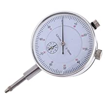 SODIAL(R) Dial Indicator Gauge 0-10mm Meter Precise 0.01 Resolution Concentricity Test