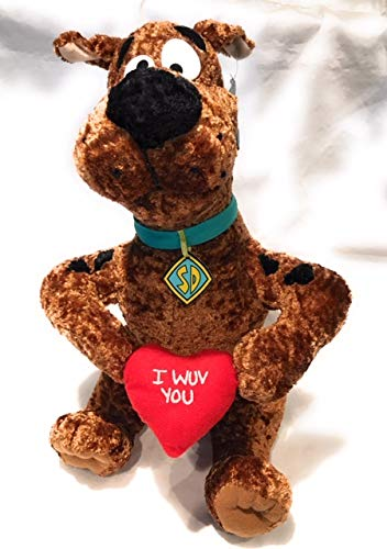 Scooby Doo I WUV You Plush 14
