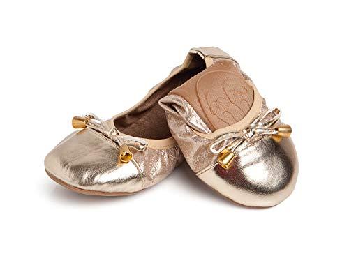 Talaria Flats Girl's Talaria Littles Ballet Flats Kids 13 (7T) Champagne ()