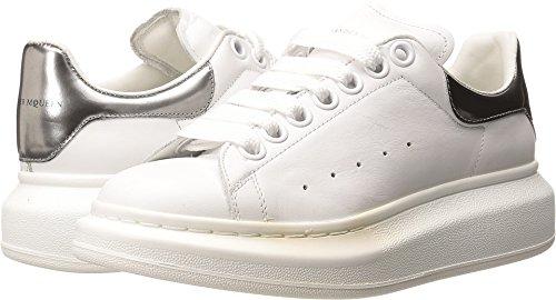 Alexander McQueen Women's Sneaker Pelle S.Gomma White/Silver 36 (US Women's 6) B - Medium