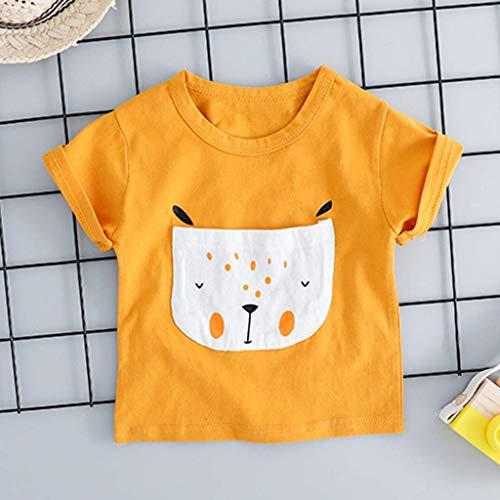Bold N Elegant Cute Cartoon Print Half Sleeve T-Shirt and Shorts Clothing Set for Infant Toddler Baby Boy Girl