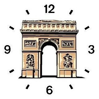 Arc de Triomphe - Landmark of Paris Paris & France Theme - WATCHBUDDY ELITE Chrome-Plated Metal Alloy Watch with Metal Mesh Strap-Size-Large ( Men's Size or Jumbo Women's Size )