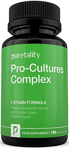 Pro-Cultures Complex 5- strain formula 180 capsules (6 Month Supply) - 10...