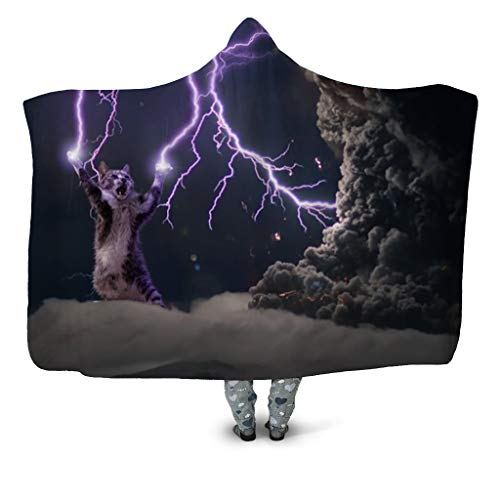 URVIR Blanket Hooded Unisex Funny 3D Printed Throw Blankets Home Decoration HB-087 S (Melbourne Furniture Outdoor Buy)