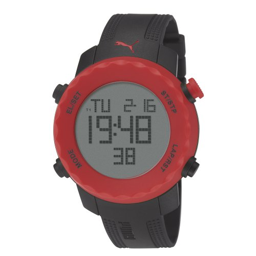 uartz Plastic and Polyurethane Sport Watch, Color:Blue (Model: PU911031005) ()