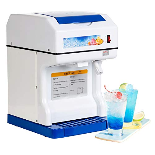 Ice Shaver Machine - SUNCOO Electric Ice Crusher Ice Shaving Machine Commercial Ice Crusher Snow Cone Maker Machine Shaved Ice Crusher, 350 r/m Perfect For Parties