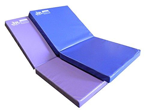 Team Sports Gymnastics Throw Folding Skill Training Mat, Folding 3'X6'X4-Blue Vinyl