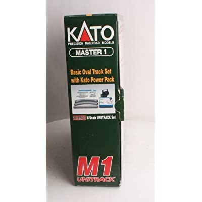 Kato USA Model Train Products M1 UNITRACK Basic Oval with Kato Power Pack: Toys & Games