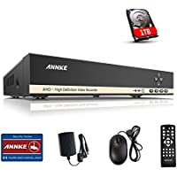 [New 720P] Annke 8CH AHD 1080N CCTV Security DVR + 1TB Hard Drive, H.264 Digital Video Recorder For Surveillance Security Camera System, Mobile Motion Detection