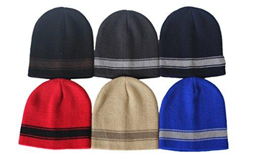 MJ Boutique (120 Pieces Per Case) Bulk Beanie Hats / Wholesale (1) Lot of Children Beanie Caps (Assorted-Beanie-Cuffless - Kiosk Kids