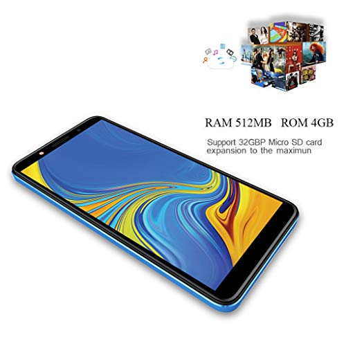 Matoen Android 6.0 Unlocked 6.0 Cell Phone Quad Core Dual SIM 3G T-Mobile Smartphone Xbo Note9 Smartphone 5.0 inch Screen, 3G, 512+4GB (Blue) by Matoen (Image #2)