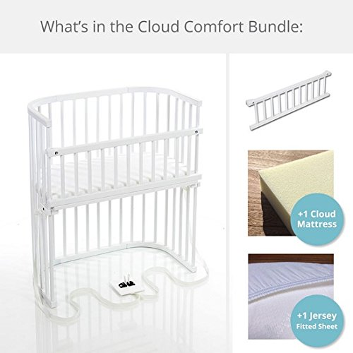 babybay Bassinet Cloud Comfort Bundle in Purist (Pure White)