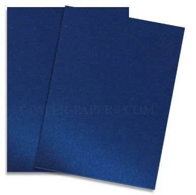 Shimmer Blue Satin 8.5X11 Card Stock Paper - 25 sheets per pack