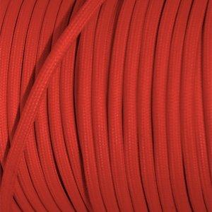 Tibelec 073660 C/âble /électrique textile Rouge